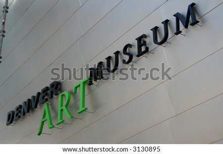 Denver Art Museum - stock photo