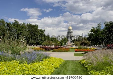 Denver Capitol Summer 2010 - stock photo