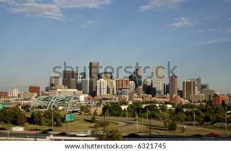 Denver Colorado, site of 2007 world series and democratic national convention - stock photo