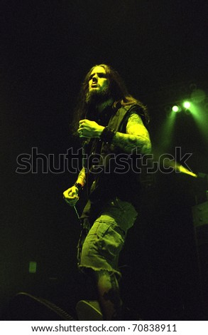 DENVER - FEBRUARY 13: Phil Anselmo vocalist for the Heavy Metal band Pantera performs live in concert February 13, 2001 at the Coliseum in Denver, CO.