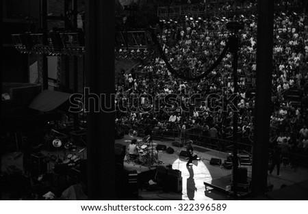 DENVERJULY 20:Donald Roeser July 20, 2002 Red Rocks Amphitheater in Denver, CO. - stock photo