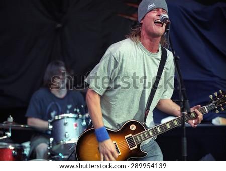 DENVERJULY 25:Wes Scantlin July 25, 2001 at Red Rocks in Denver, CO. - stock photo