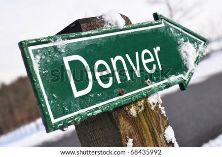 DENVER road sign - stock photo