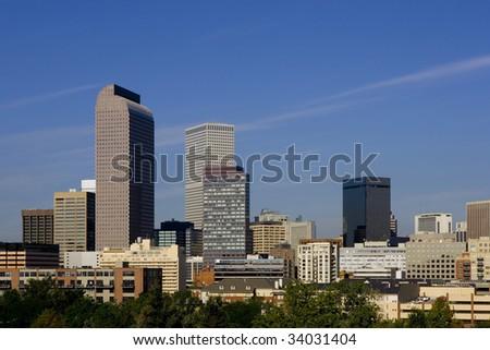 Denver skyline - stock photo