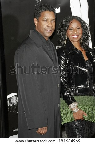 Denzel Washington at Los Angeles Premiere of AMERICAN GANGSTER, ArcLight Hollywood Cinema, Los Angeles, CA, October 29, 2007 - stock photo