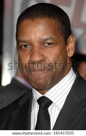 Denzel Washington at THE BOOK OF ELI Premiere, Grauman's Chinese Theatre, Los Angeles, CA January 11, 2010 - stock photo