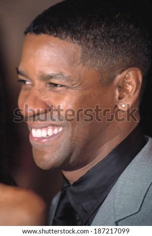 Denzel Washington at the GQ MEN OF THE YEAR, NY 10/16/2002 - stock photo