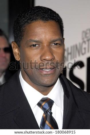 Denzel Washington at THE INSIDE MAN Premiere, The Ziegfeld Theatre, New York, NY, March 20, 2006 - stock photo