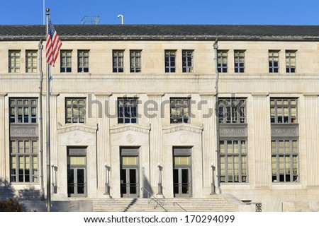 Department of Interior Building in Washington DC, United States  - stock photo