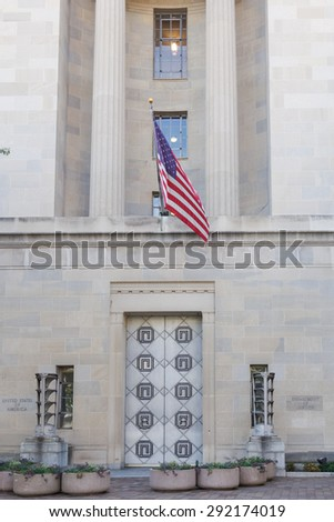 Department of Justice Building - Washington DC, USA  - stock photo