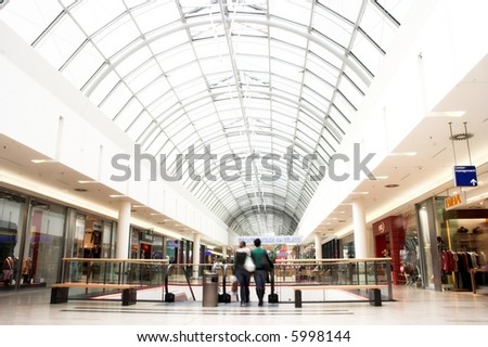 Department Store Shopping - stock photo