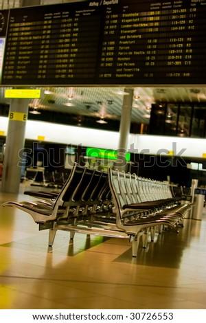 Departure area in airport - stock photo