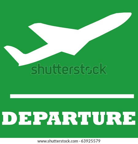 Departure sign in airport - stock photo