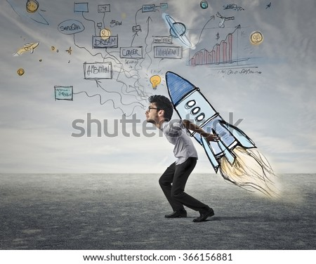 Departure time - stock photo