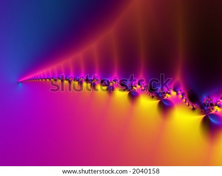 Depiction of infinite space - stock photo