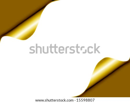Depiction of raised corners of a page for background use. Change color to suit. - stock photo