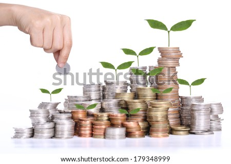 Deposit money for investment your business in the future - stock photo