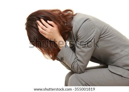 depressed?businesswoman  - stock photo