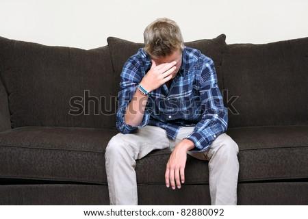 Depressed Teen - stock photo