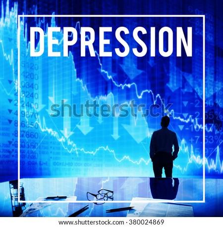 Depression Despair Recession Disorder Economic Concept - stock photo