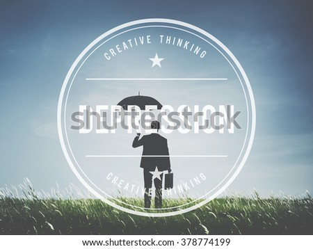 Depression Downturn Decline Recession Crisis Concept - stock photo