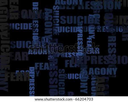 Depression Wallpaper Stock Illustration 66204703