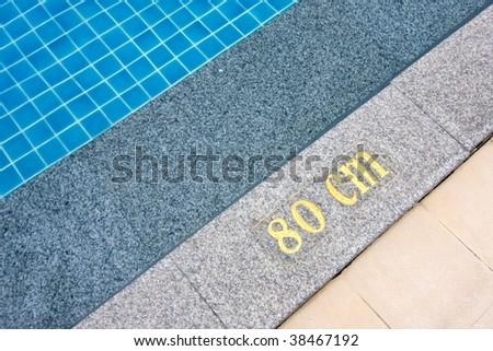 Depth of the pool - stock photo