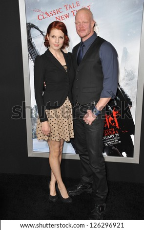 "Derek Mears at the Los Angeles premiere of his new movie ""Hansel & Gretel: Witch Hunters"" at Grauman's Chinese Theatre, Hollywood. January 24, 2013  Los Angeles, CA Picture: Paul Smith - stock photo"