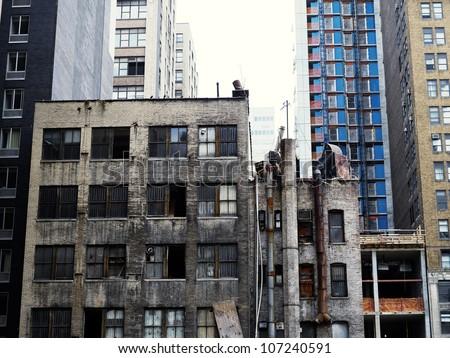 Derelict building - stock photo