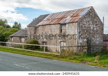 Derelict House - stock photo