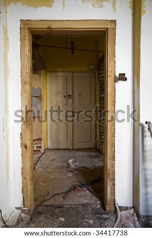 Derelict interior to be redecorated - stock photo