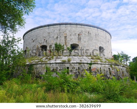 Derelict round building somewhere in Hungary