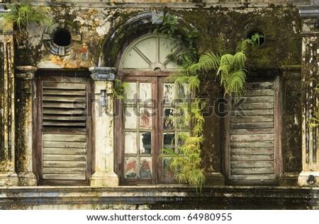 Derelict Window 1 - stock photo