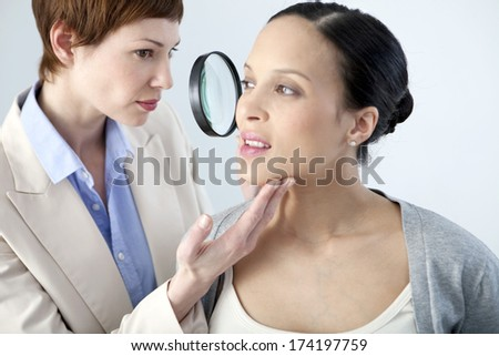Dermatology Consultation, Pregnant Woman - stock photo