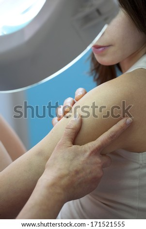 Dermatology is the branch of medicine dealing with the hair, nails, skin and its diseases - stock photo