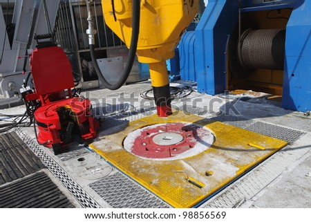 Mechanical Technician Hooked Junction Box Flow Stock Photo