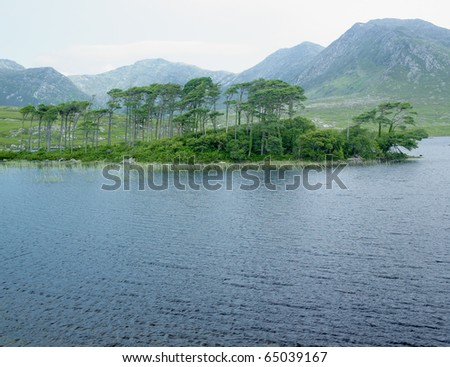 Derryclare Lough, County Galway, Ireland - stock photo