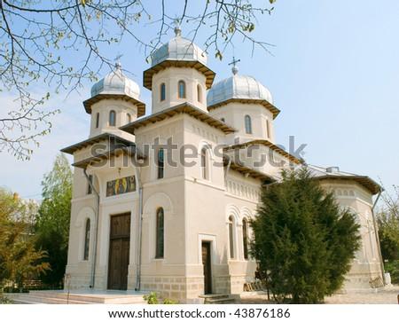Dervent monastery in Dobrogea region, Romania - stock photo