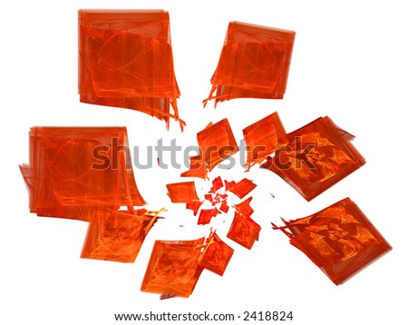 Descending Spiral of Red Diamonds - stock photo