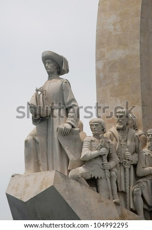 descobrimentos monument in lisbon, portugal - stock photo