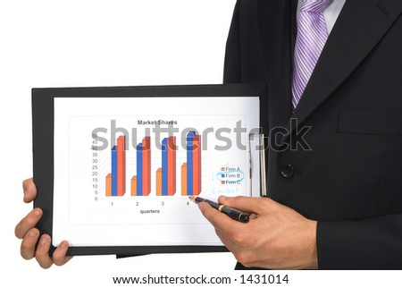 describing business chart - stock photo