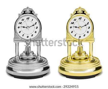 desctop watch retro styled - stock photo