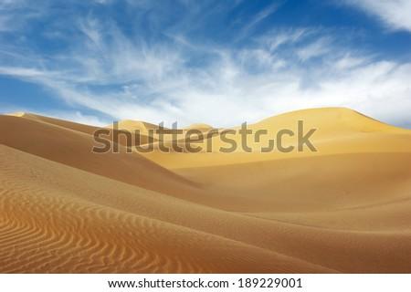 Desert and sky - stock photo