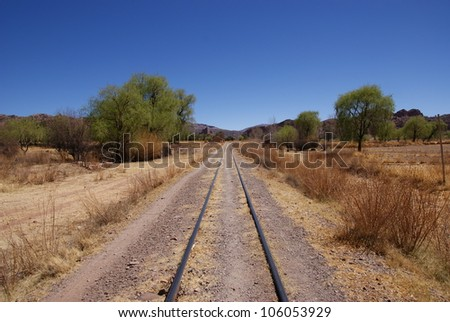 Desert, andean landscape near Tupiza, Bolivia - stock photo