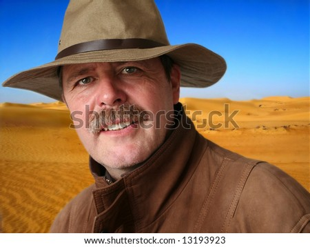 Desert Archaeologist - stock photo