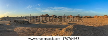 Desert at sunset - stock photo