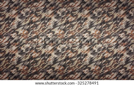 Desert Camouflage Background - a background with camouflage pattern in desert colors.  - stock photo