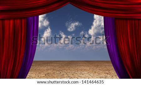 Desert Curtains - stock photo