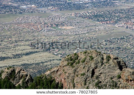 Desert Development - stock photo