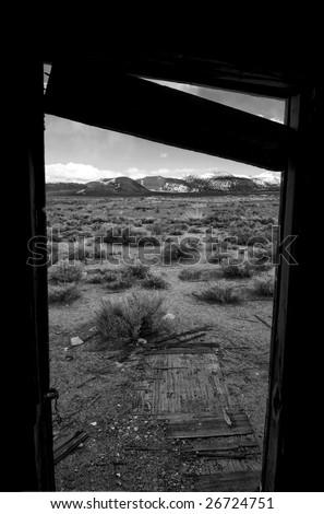 Desert Door - Bodie California - stock photo